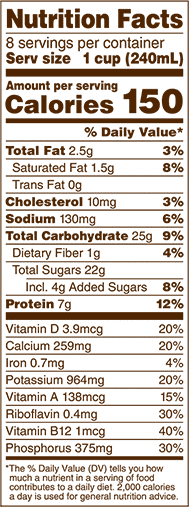 Bananamilk Nutritional Information